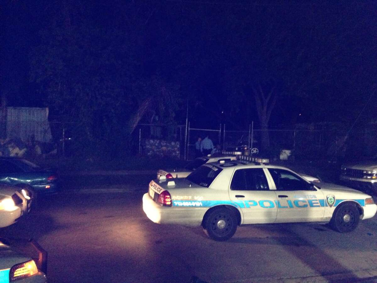 The shooting took place at a home along Lyons and Sam Wilson on Tuesday evening. (Mike Glenn/Chronicle)