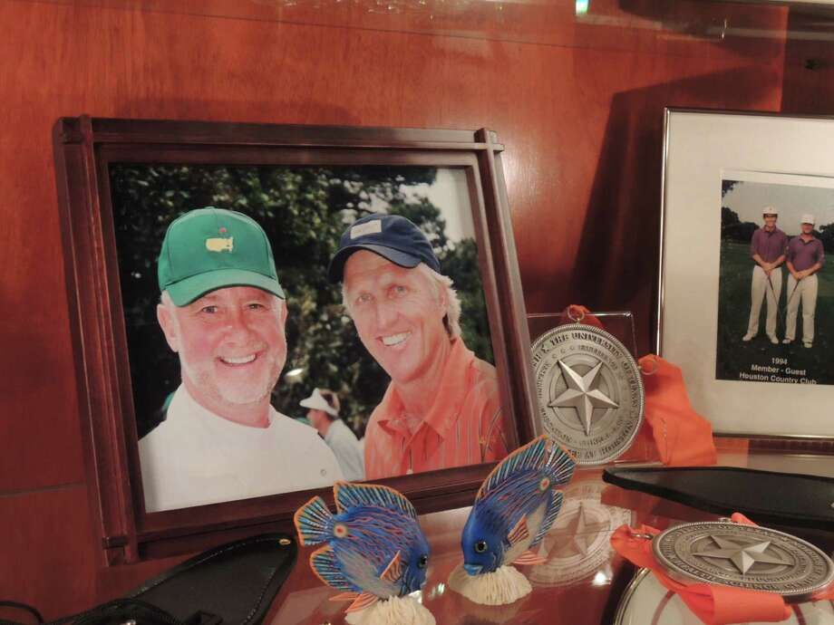 Dr. Richard Andrassy got to caddie for Greg Norman in the par-3 contest at the Masters. Norman, who was once married to Andrassy's sister, and the surgeon have remained friends and collaborated on charity events.