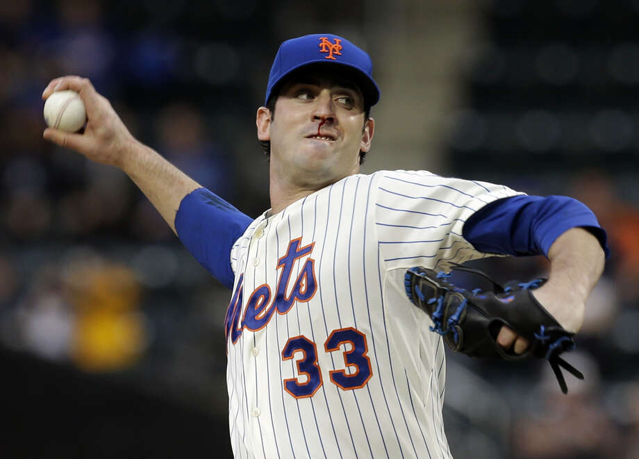 New York Mets starting pitcher Matt Harvey throws during the first inning of the baseball game against the Chicago White Sox at Citi Field on Tuesday, May 7, 2013 in New York. (AP Photo/Seth Wenig) Photo: Seth Wenig