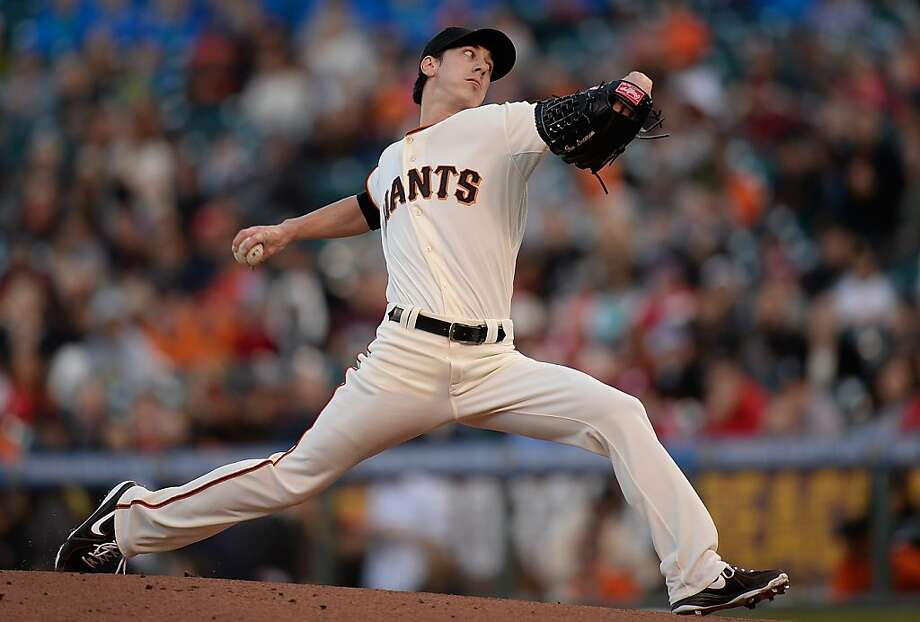 SAN FRANCISCO, CA - MAY 07:  Tim Lincecum #55 of the San Francisco Giants pitches against the Philadelphia Phillies at AT&T Park on May 7, 2013 in San Francisco, California.  (Photo by Thearon W. Henderson/Getty Images) Photo: Thearon W. Henderson, Getty Images