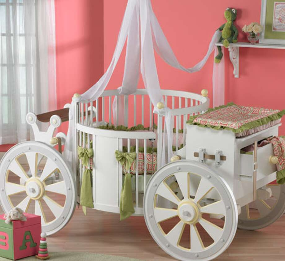 Majestic carriage crib, $19,995. The perfect place for your princess to catch up on her beauty rest in this crib that looks like a carriage in a fairy tale. poshtots.com