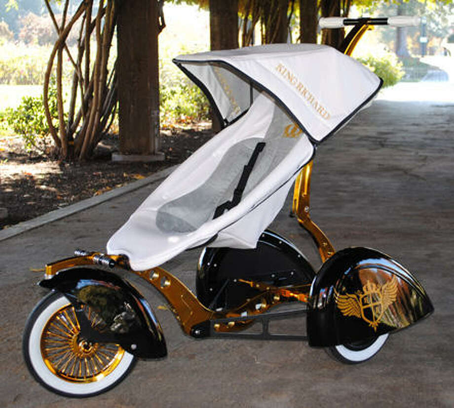 The Roddler, $4,500. This hand-built stroller is certain to give you a smooth ride along Rodeo Drive. kidkustoms.com