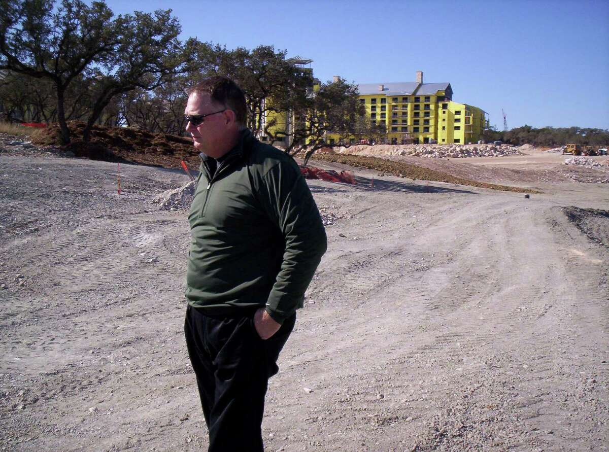 Jimmy Terry surveys the construction at the AT&T Canyons Course at TPC San Antonio.