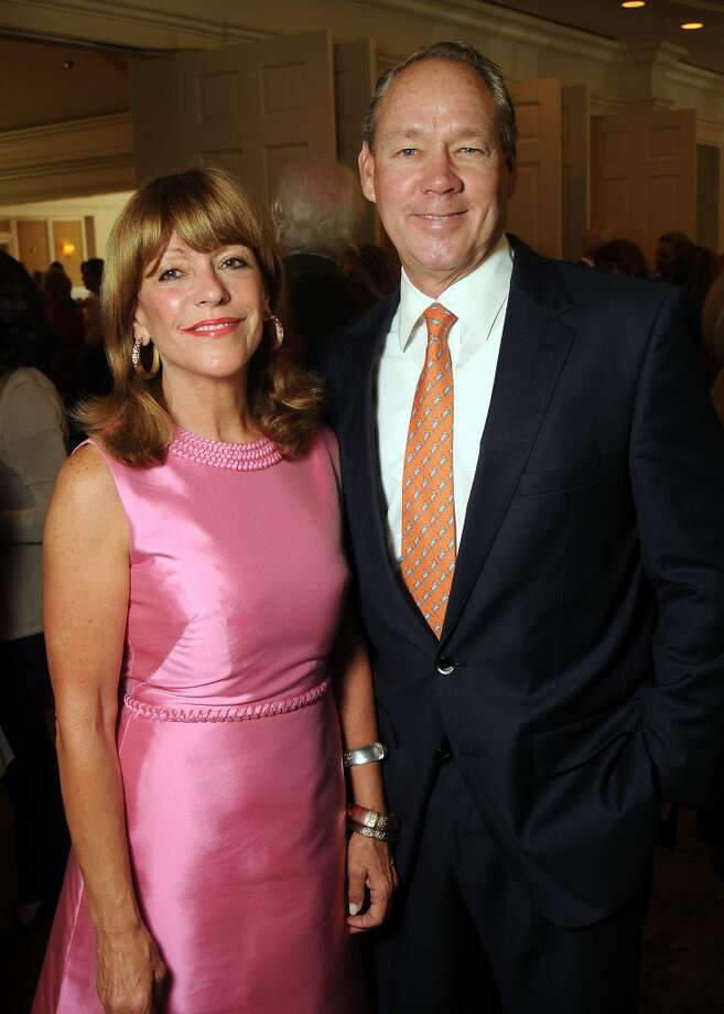 Honorees Franci and Jim Crane at the Houston Center for Contemporary Craft's luncheon at the River Oaks Country Club Tuesday May 07, 2013.(Dave Rossman photo)