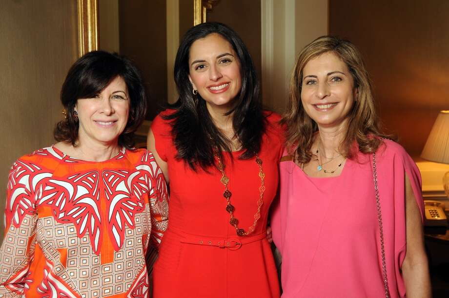 From left: Francoise Djerejian, Zeina Fares and Rania Daniel at the Houston Center for Contemporary Craft's luncheon at the River Oaks Country Club Tuesday May 07, 2013.(Dave Rossman photo)