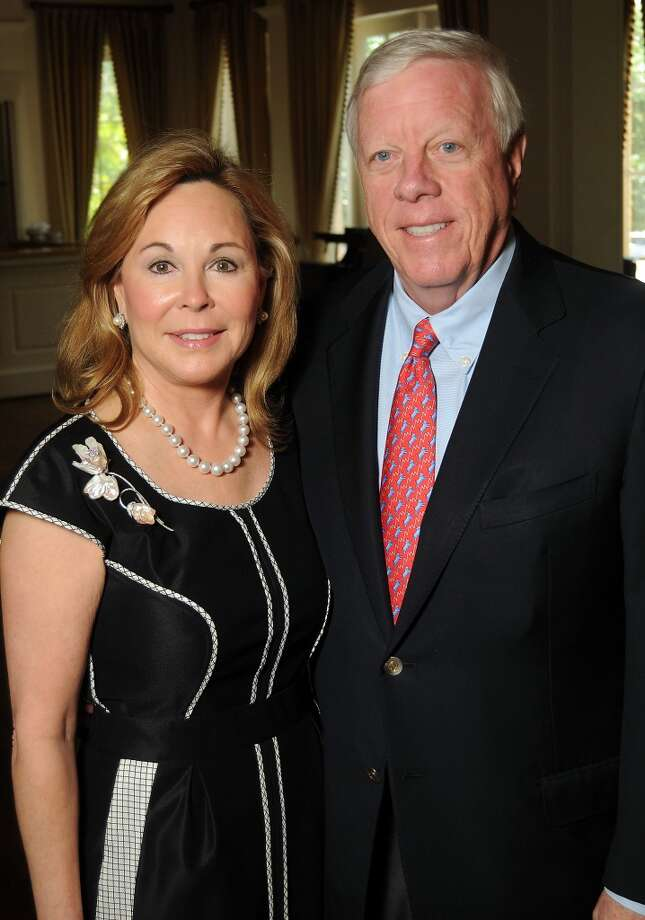 Nancy and Rich Kinder at the Houston Center for Contemporary Craft's luncheon at the River Oaks Country Club Tuesday May 07, 2013.(Dave Rossman photo)
