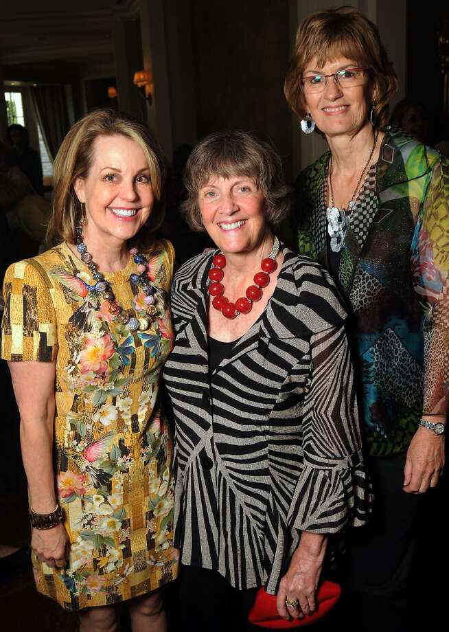 From left: Chairs Carrin Patman, Sara Morgan and Paula Arnold at the Houston Center for Contemporary Craft's luncheon at the River Oaks Country Club Tuesday May 07, 2013.(Dave Rossman photo)