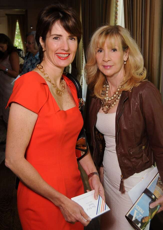 Alexandra Hernandez-Norgaard and Patricia Blackwell at the Houston Center for Contemporary Craft's luncheon at the River Oaks Country Club Tuesday May 07, 2013.(Dave Rossman photo)