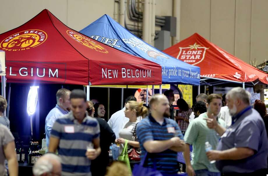 Faust also distributes Colorado's New Belgium Brewing. A large variety of imports and domestic beers were on display at the retailer trade show at the Faust Distributing Center in Houston, Texas.