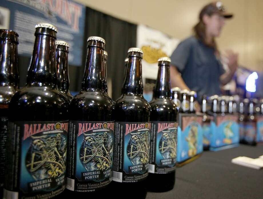 Ballast Point beers, including the fantastic Victory at Sea, were on display and available for sampling.