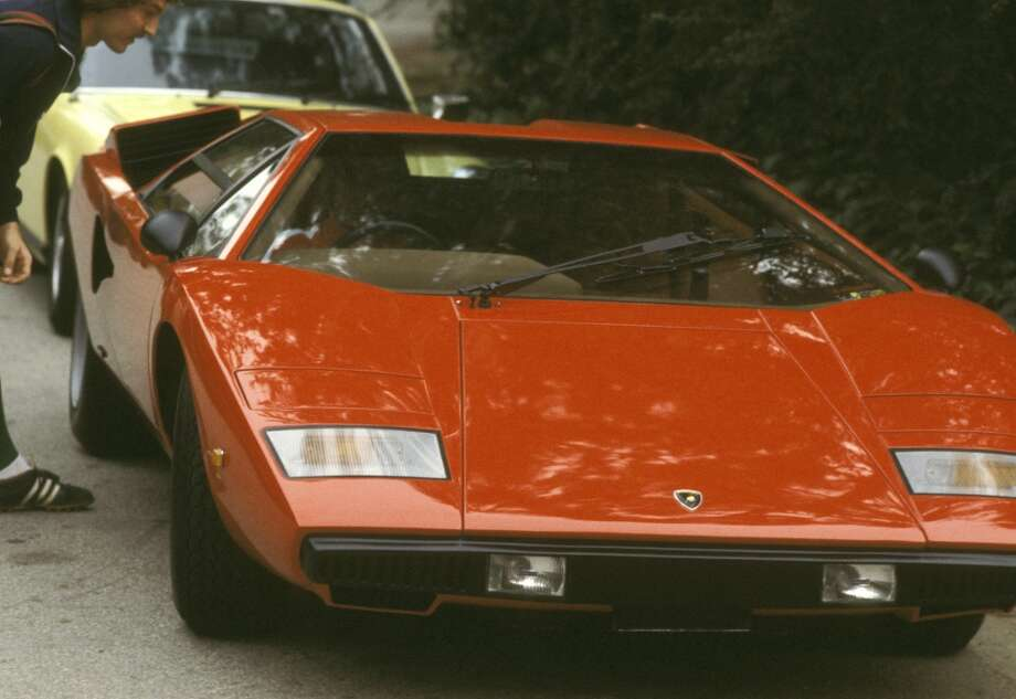 Rod Stewart's Lamborghini during Rod Stewart's Lamborghini Parked Outside Michael York's Home - March 20, 1978 at Michael York's Home in Los Angeles, California, United States.