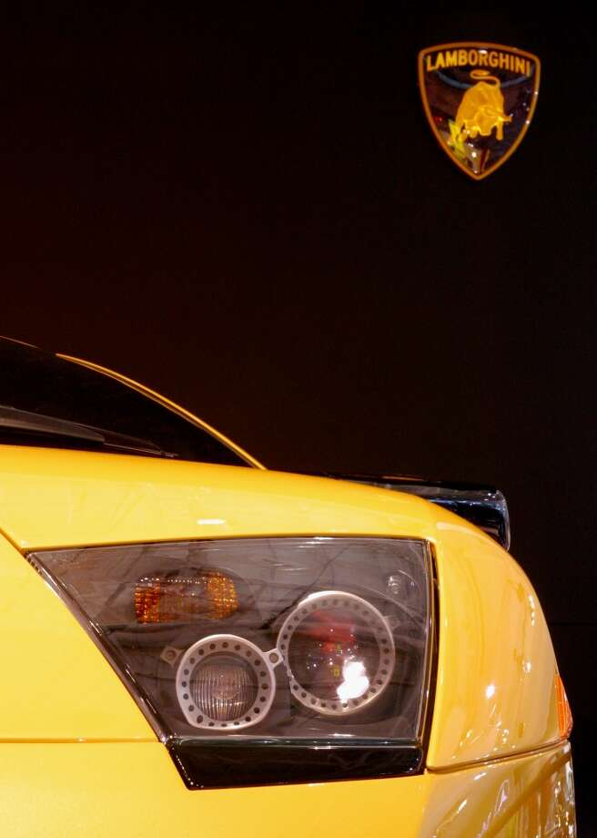 The Lamborghini Murcielago on display at the Sydney International Motor Show on October 17, 2002 in Sydney, Australia.