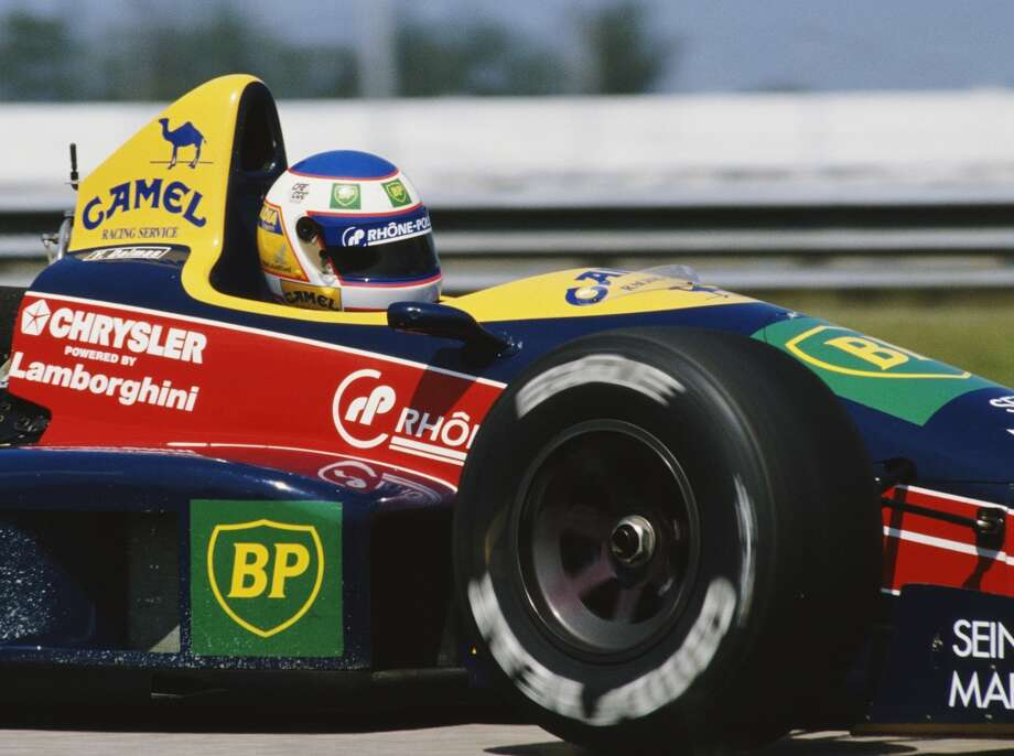 Yannick Dalmas of France drives the #29 Equipe Larrousse Lola LC88C Lamborghini  V12 during practice for the Brazilian Grand Prix on 25th March 1989 at the Autodromo Internacional Nelson Piquet Jacarepagua circuit near Rio de Janeiro, Brazil.