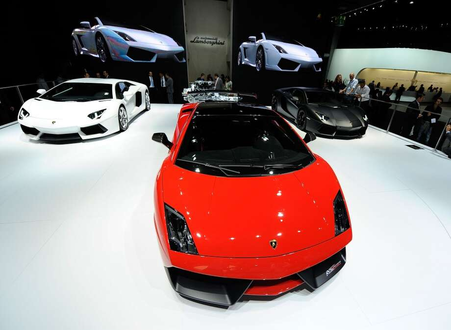 Lamborghini Gallardo is pictured during the press days at the IAA Frankfurt Auto Show on September 14, 2011 in Frankfurt am Main, Germany.