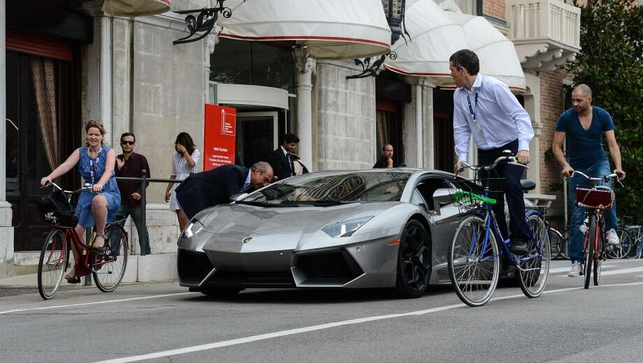 A general view of a Lamborghini Aventador during the 69th Venice Film Festival on September 6, 2012 in Venice, Italy.