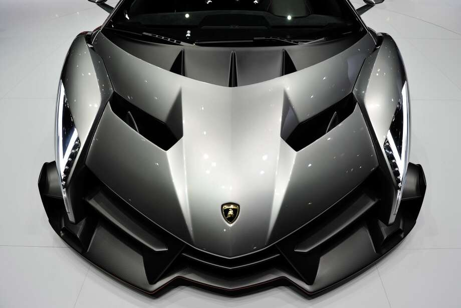 The new Lamborghini Venenos is seen during the 83rd Geneva Motor Show on March 5, 2013 in Geneva, Switzerland.