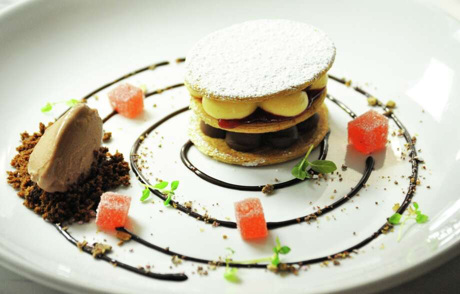 "Mil Hojas, a pastry meaning  a thousand layers,"" is a dessert specialty served at Latin Bites Cafe. Photo: Courtesy Photo"
