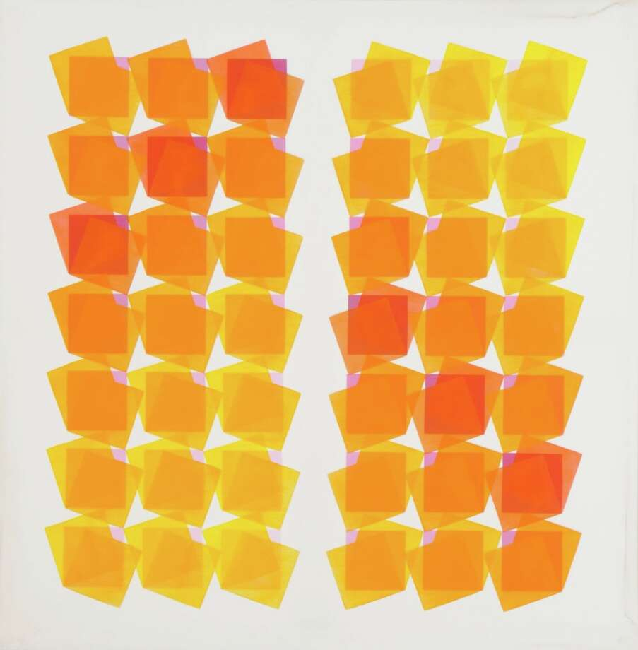 """Through Saturday 5.11   Last look You have until Saturday to catch Sicardi Gallery's homage to two late figures of South American modern art. It's hard to look away from the eye-popping geometries of """"Manuel Espinosa: Paintings and Works on Paper, 1960s and 1970s,"""" some of which look outrageously out of focus. Also head upstairs for """"Carmelo Arden Quin: Paintings, Collages, Mobiles."""" Using a quieter palette, he tested boundaries with nonrectangular canvases and kinetic works. 1506 W. Alabama; 713-529-1313; 222.sicardigallery.com. Photo: Sicardi Gallery"""