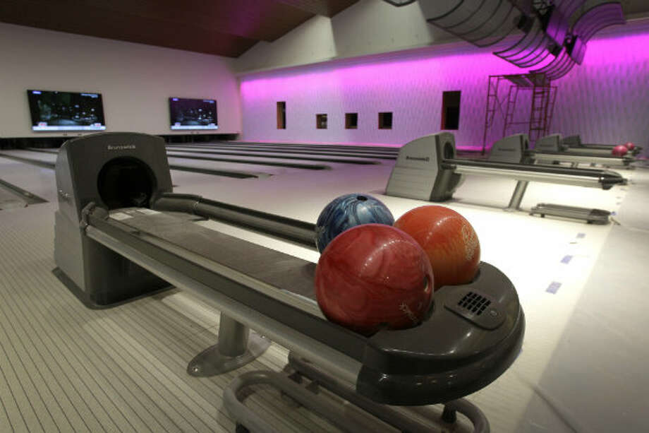 The facility's 16-lane bowling alley.