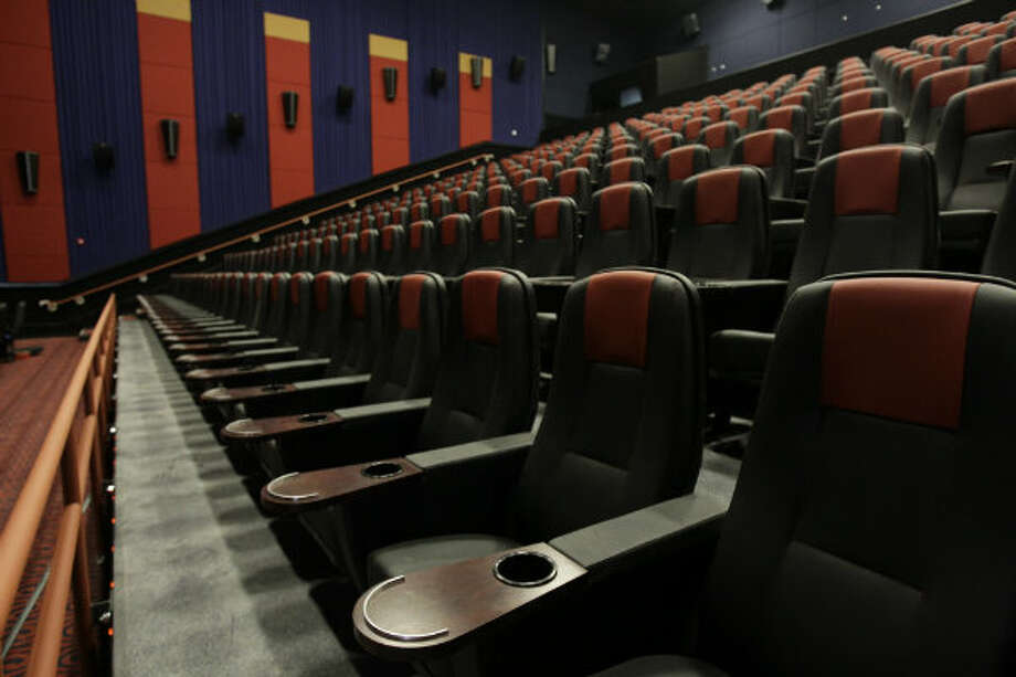 Theater seats in one of the 22 auditoriums.