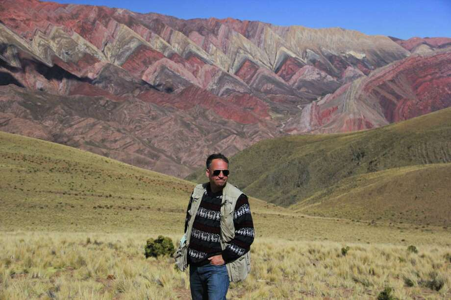 A highlight of Daryl Hawk's trip to Argentina in April was discovering Mount Hornical, a hidden away and little known 14-color mountain. Photo: Contributed Photo / Norwalk Citizen