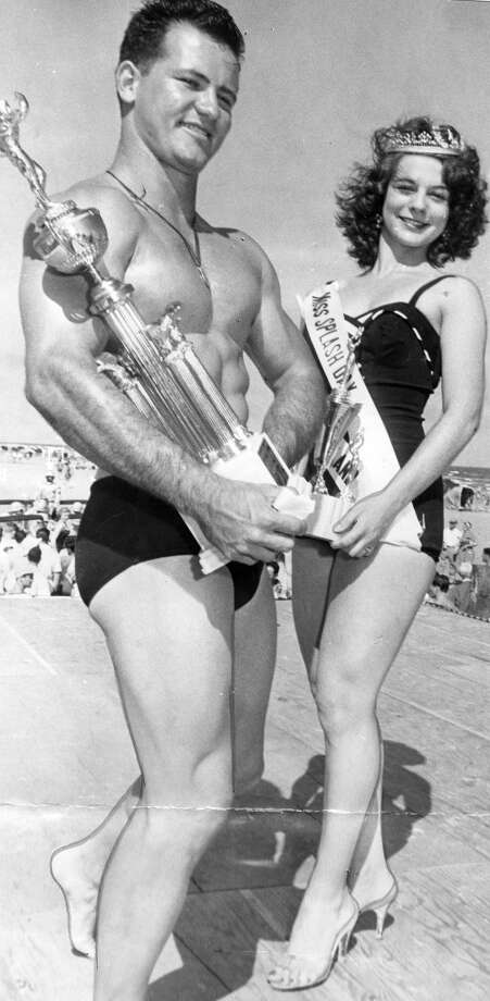 05/05/1956 - J.A. Fickessen Jr. and Miss Diane Davis: They were named Mr. and Miss Texas Splash Day. Published May 6, 1956.