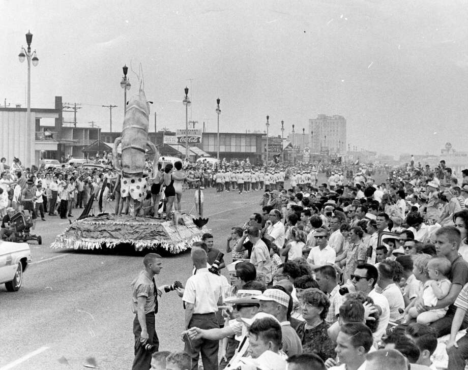 In the picture at right above is part of the throng that descended on the Island City (Galveston) for the swim season's opening. The turnout was estimated at 250,000. And most are looking forward to another trip next year.  Published April 30, 1962