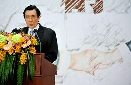 "Taiwan's President Ma Ying-jeou speaks at the headquarters of the island's quasi-official Straits Exchange Foundation in Taipei on April 29, 2013. Ma renewed the ""one China"" policy of his government as Taiwan marked the 20th anniversary of the of the first high-level talks between Taiwan and the Chinese mainland since their split in 1949 at the end of a civil war.   AFP PHOTO / Mandy CHENGMandy Cheng/AFP/Getty Images"