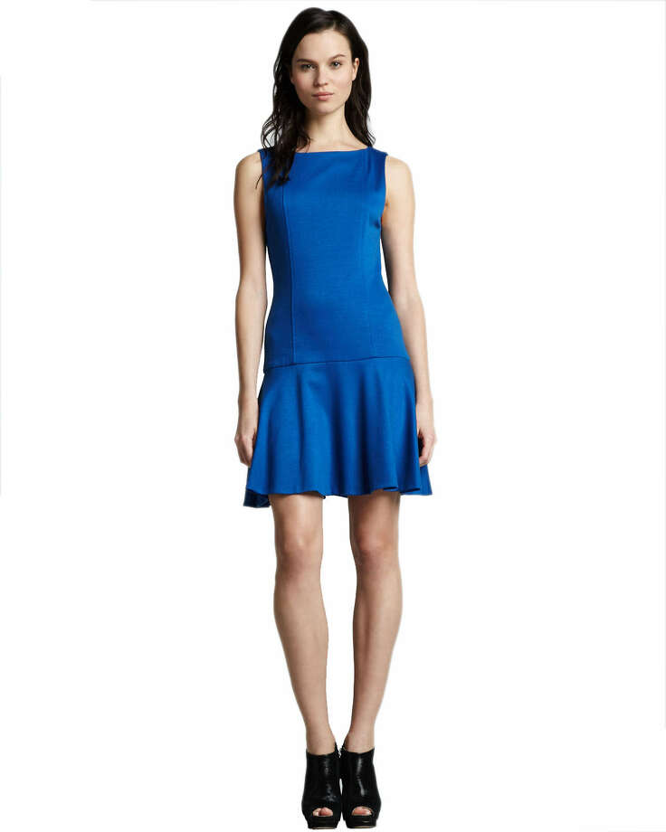Drop it like it's hot: The drop waist on Alice + Olivia's flirty, electric blue Kaya frock is perfect for dancing like a modern-day flapper; $275 at Neiman Marcus.