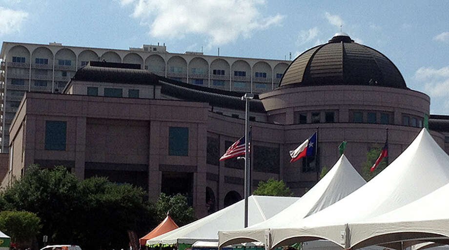Reader David Applegate shared this photo of what he says is a sniper on a rooftop in Austin at the BP MS 150 finish line.