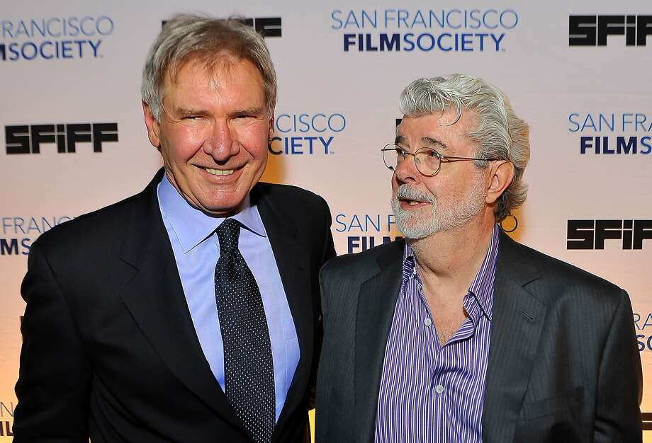 SAN FRANCISCO, CA - MAY 07: (L-R) Harrison Ford and George Lucas attend the 56th San Francisco Film Festival honoring Harrison Ford with the Peter J. Owens Award at Bimbo's 365 Club on May 7, 2013 in San Francisco, California. (Photo by Steve Jennings/WireImage) Photo: Steve Jennings, WireImage