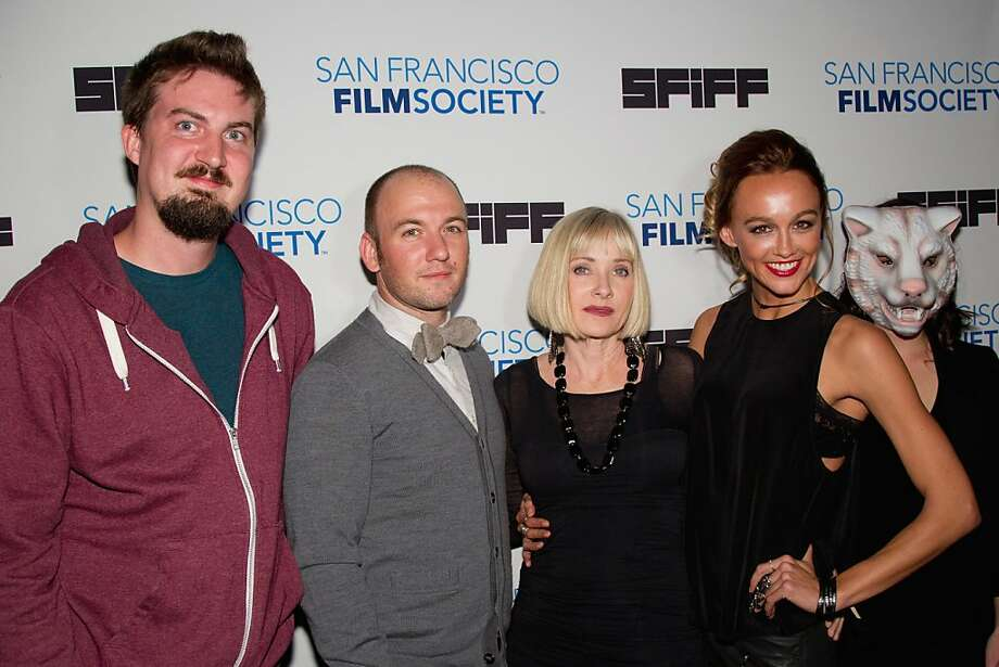 SAN FRANCISCO, CA - APRIL 27:  Director Adam Wingard, writer Simon Barrett actress Barbara Crampton and actress Sharni Vinson arrive at 'You're Next' premiere at Sundance Kabuki Cinemas on April 27, 2013 in San Francisco, California.  (Photo by Miikka Skaffari/FilmMagic) Photo: Miikka Skaffari, FilmMagic