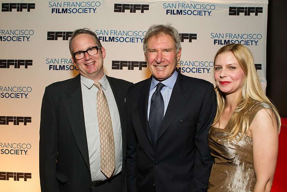 Ted Hope, Harrison Ford and Vanessa Hope at the San Francisco Film Society's Awards Night gala on May 07, 2013. Photo: Drew Altizer Photography
