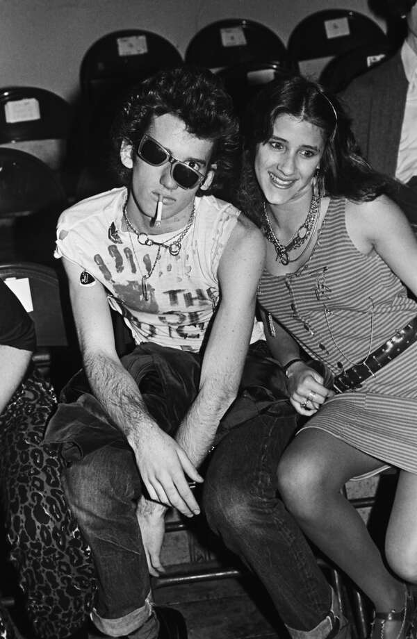 "A punk couple pose prior to ""The Sex Pistols"" performance in this 1978 San Francisco, California, photo taken at the Winterland Ballroom. (Photo by George Rose/Getty Images)"