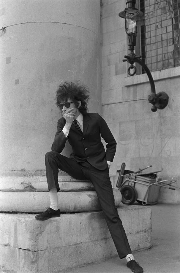 John Cooper Clarke posing on a London street, London, circa 1977. (Photo by Tom Sheehan/Sony Music Archive/Getty Images)
