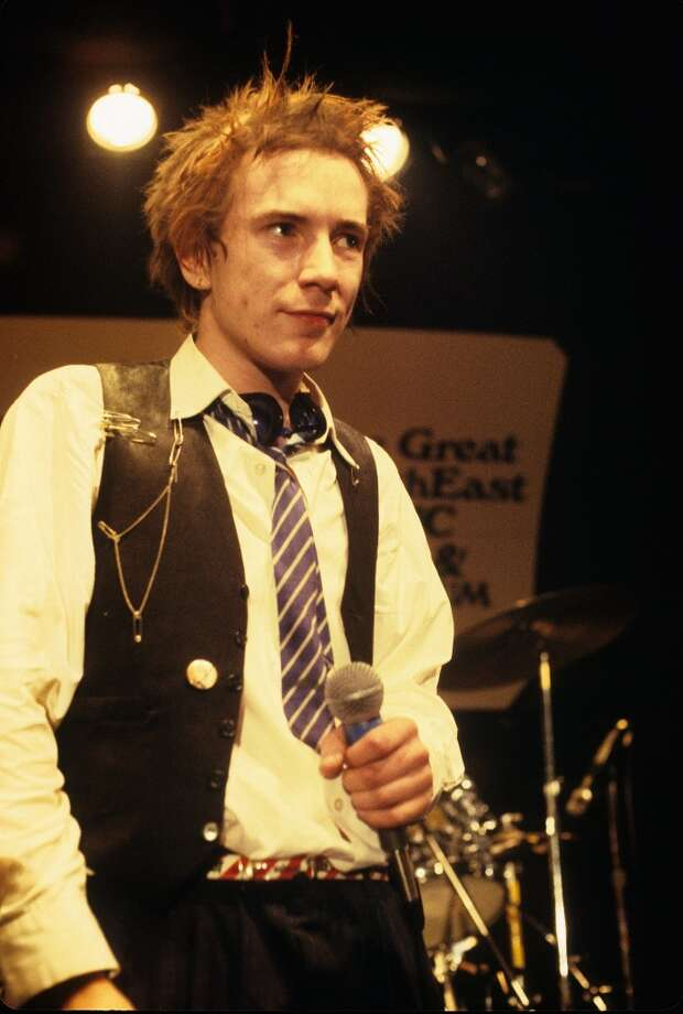 Johnny Rotten (John Lydon) performing live onstage at The Great South East Music Hall, on final tour  (Photo by Richard E. Aaron/Redferns)