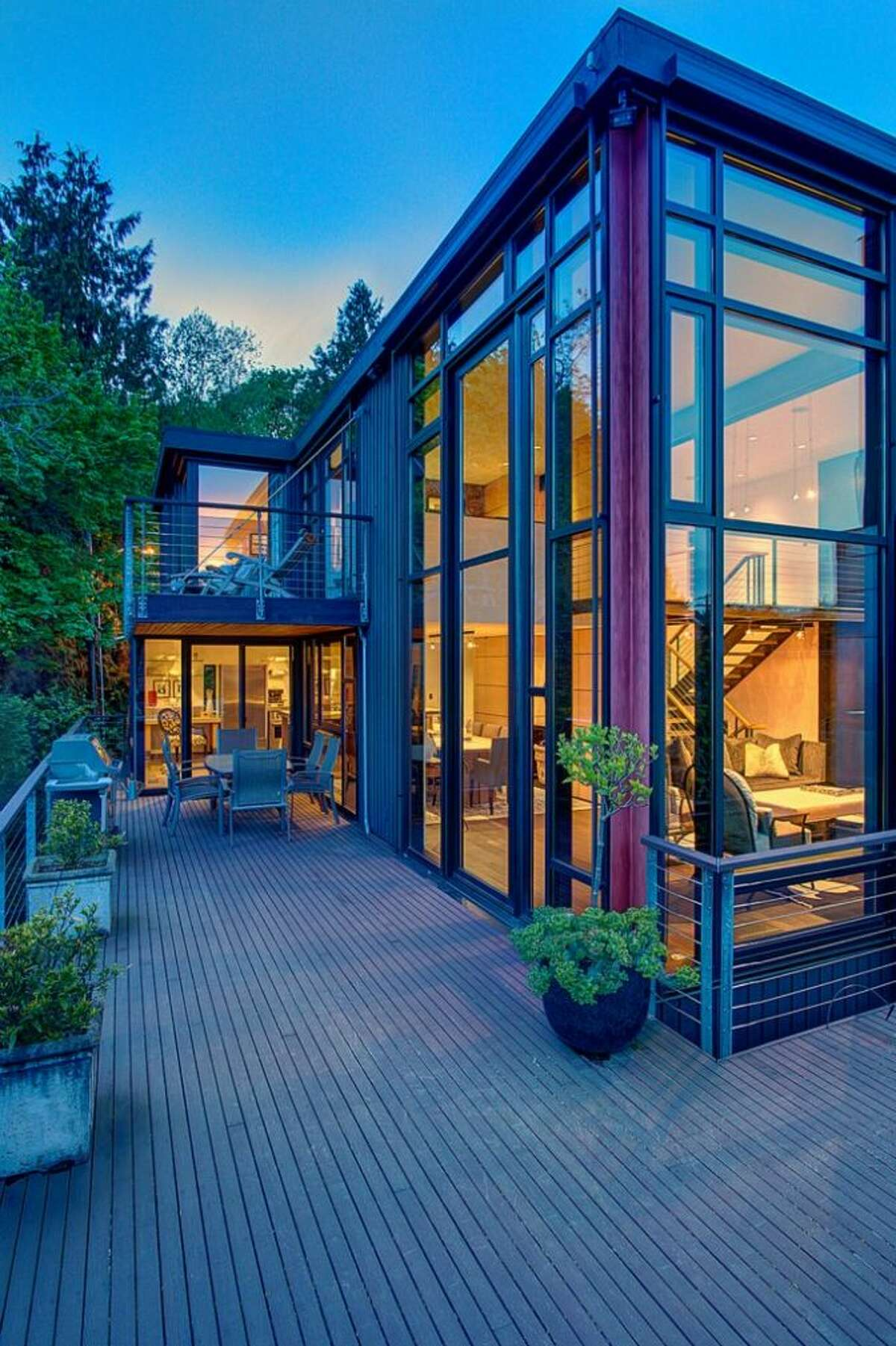 Tom Kundig is among Seattle's most celebrated active architects. Now, you could live in one of his creations, 414 34th Ave. S., in Leschi. The 3,190-square-foot house, built in 1998, has three bedrooms, 2.25 bathrooms, a two-story living room with walls of windows, steel staircases and landing, decks, patios, and views of Mount Rainier and Lake Washington on a 7,200-square-foot lot. It's listed for $1.8 million.