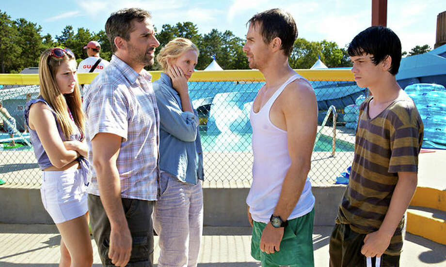 THE WAY, WAY BACK (July 5) - I'm a sucker for coming-of-age stories, but only when they're done well and differently. A 14-year-old learning life lessons over a summer while working at Water Wizz water park, thanks to the park's offbeat manager (the criminally underappreciated Sam Rockwell) just might qualify. Thrown in a solid cast that features Toni Collette, Steve Carrell, Amanda Peet, Maya Rudolph, Allison Janney and Rob Corddry. Oh, and also the writing and directing team  of Jim Rash and Nat Faxon, the Oscar-winning screenwriters of 'The Descendants.' / This photograph is protected by United States copyright law and may not be reproduced, distributed, transmitted, displayed, published or broadcast without the prior written permission of the copyright owner. Licensing requests should be sent to photosales@nytimes.com.