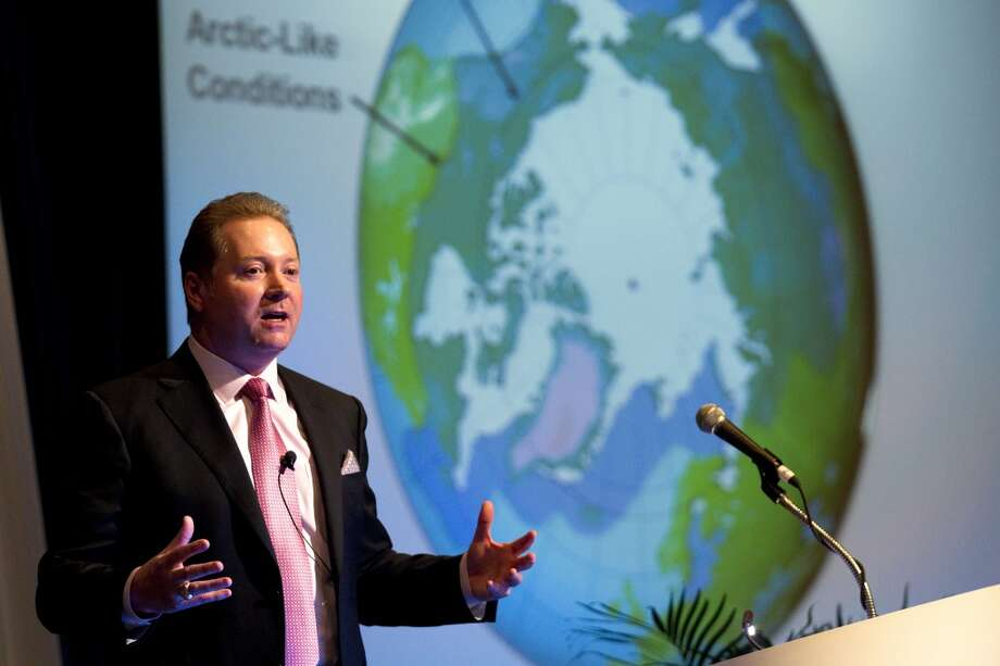 Lee Tillman, of ExxonMobil, gives a presentation on large-scale projects in the Arctic during OTC2013 at Reliant Park Wednesday, May 8, 2013, in Houston. ( Brett Coomer / Houston Chronicle ) Photo: Brett Coomer, Houston Chronicle