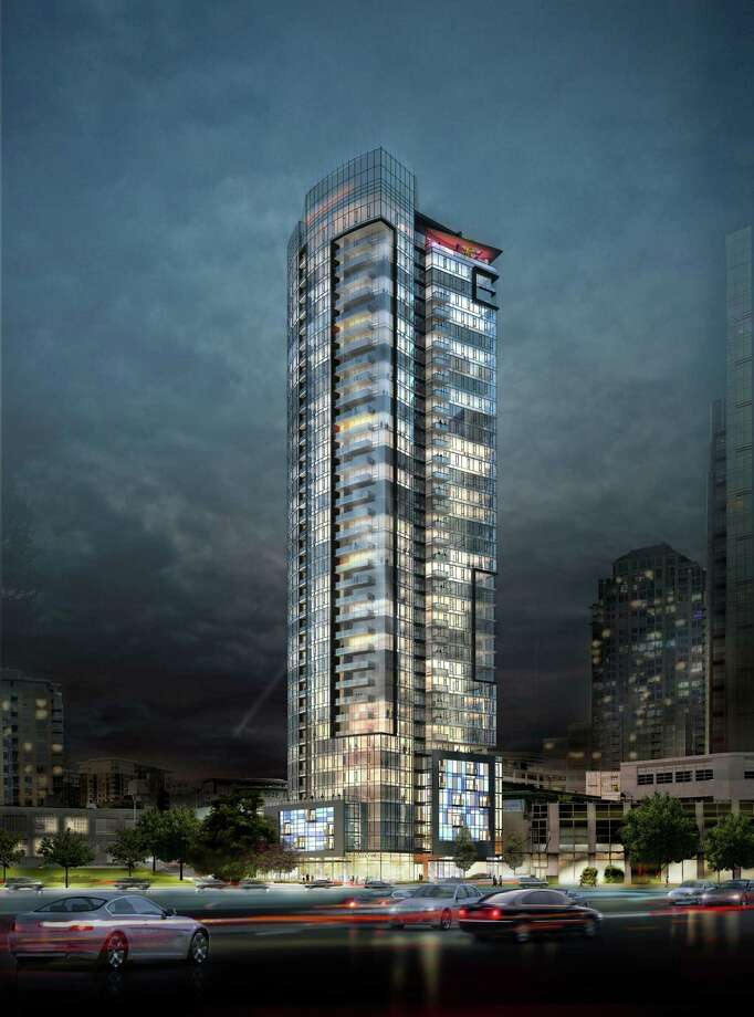 An artist's depiction of GID Development's planned 41-story apartment tower at 2030 8th Ave., in Seattle. Photo: PRNewsFoto/GID Development Group