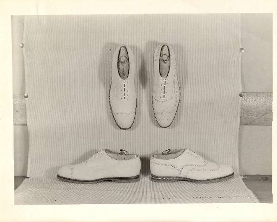 White buck wingtips from the Brooks Brothers archive