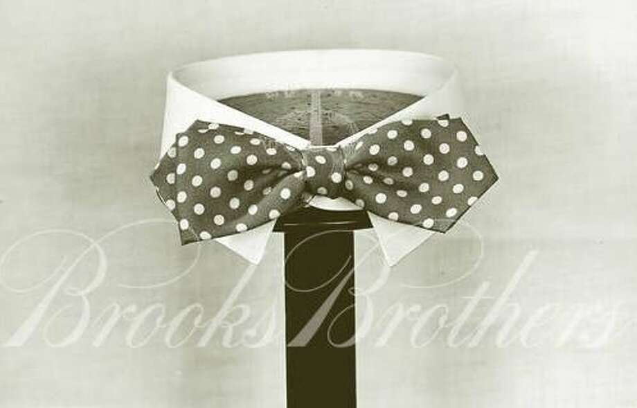 Shirt and bowtie from the Brooks Brothers archive