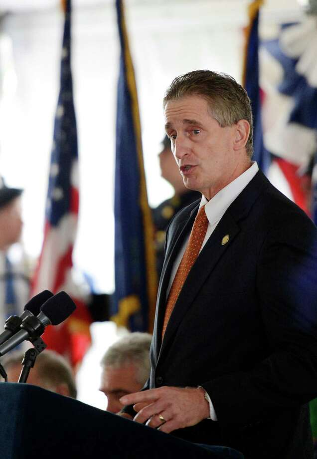 New York Lt. Gov. Robert J. Duffy speaks Wednesday May 8, 2013, during the State of New York Police Officers' Memorial Remembrance Ceremony in Albany, N.Y.   (Skip Dickstein/Times Union) Photo: SKIP DICKSTEIN / 00022315A