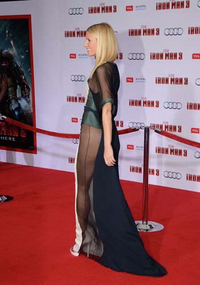 Most recently Paltrow learned the hard way there is no way to wear underwear with this dress. Photo: Jason Merritt, Getty Images / 2013 Getty Images