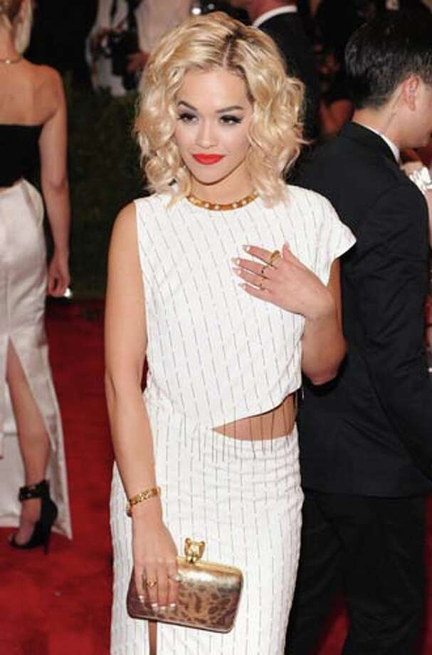 Rita Ora does the asymmetrical cutout. Photo: Jamie McCarthy, Getty Images For The Huffington  / 2013 Getty Images