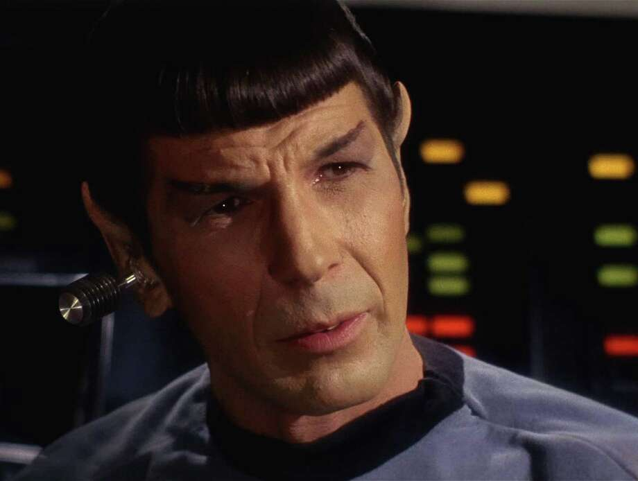 "And here's Leonard Nimoy as Spock in an episode of the original ""Star Trek"" TV show. Click on for the Audi ad, followed by the other old and new ""Star Trek"" stars. Photo: Frame Grab, CBS PARAMOUNT TELEVISION / 2008 CBS WORLDWIDE INC."