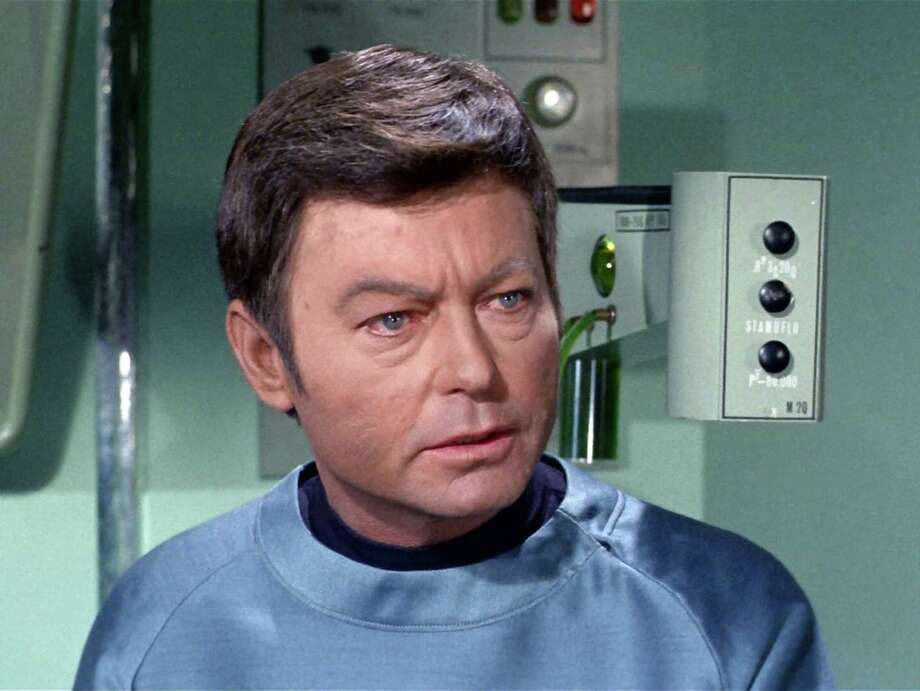 DeForest Kelley was the original McCoy. He's an actor, Jim, not a doctor. Photo: CBS Photo Archive, CBS Via Getty Images / 1968 CBS Photo Archive