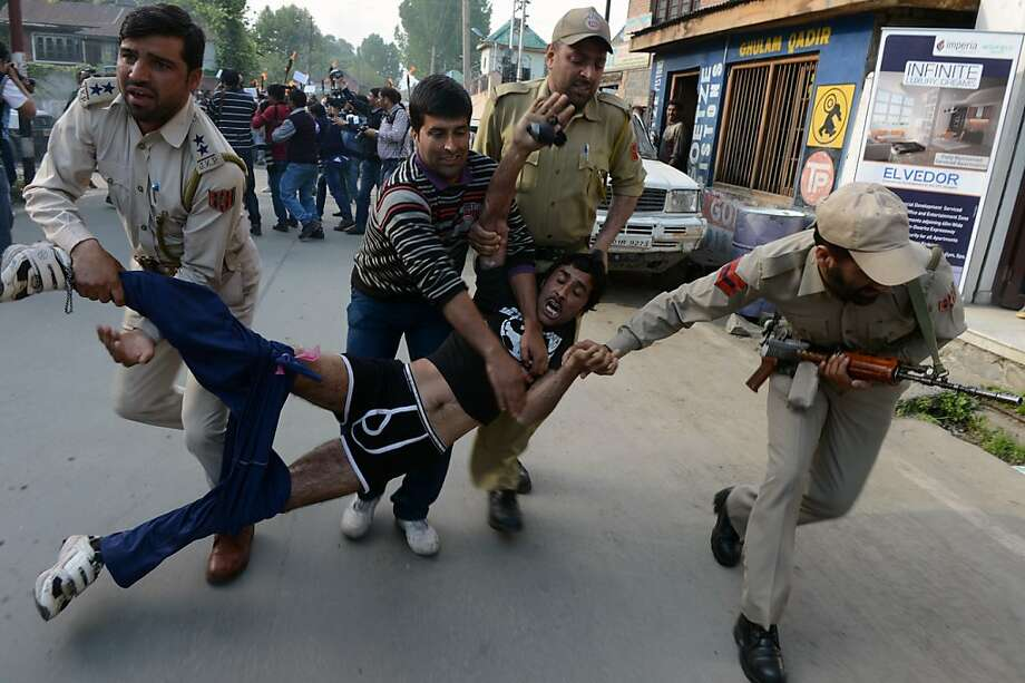 Detained and depantsed:An Indian Public Health Engineering department employee loses his trousers while being 