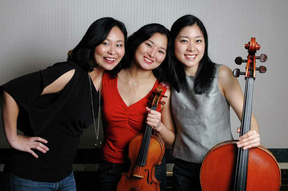 The Ardelia Trio will perform in Westport at a Connecticut Alliance for Music house concert on Sunday, May 19. From left are Jihea Hong-Park, Janey Cho, and Clara Yang. Photo: Contributed Photo / Westport News contributed