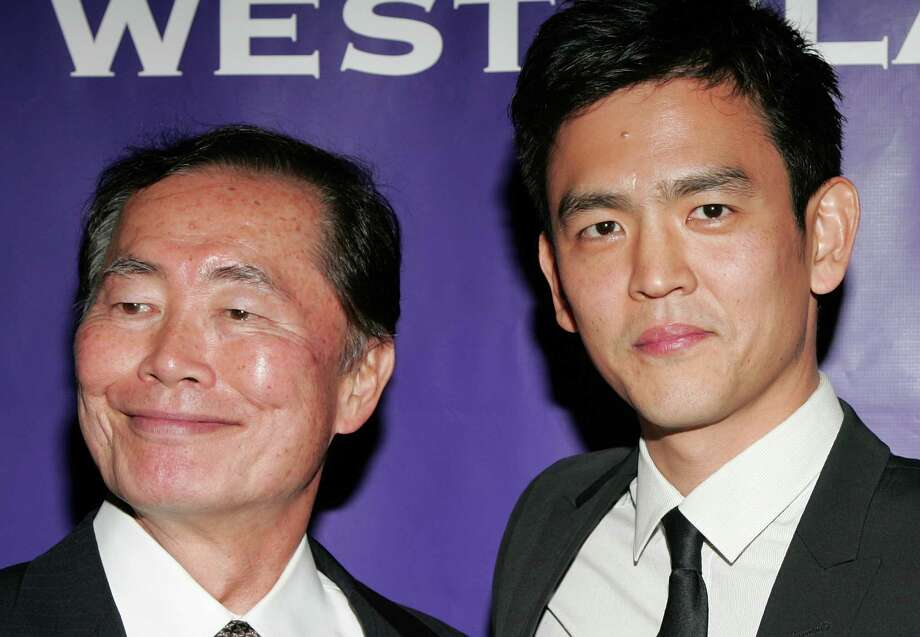 Here are old and new Sulus George Takei and John Cho together at the 43rd Anniversary Visionary Awards on April 27, 2009, in Universal City, Calif. Photo: David Livingston, Getty Images / 2009 David Livingston